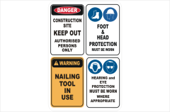 National Safety signs stock a range of PPE Construction site signs