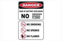 Battery Warning Sign
