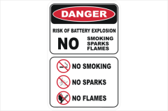 Battery Warning Sign
