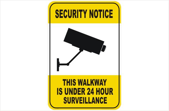 Security CCTV walkway under 24hr surveillance