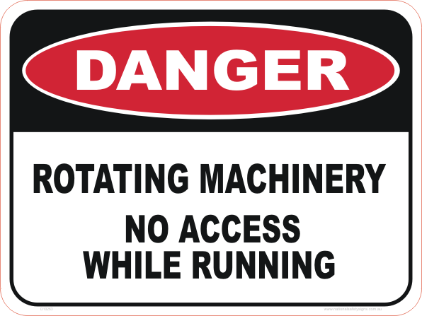 rotating machinery, no access