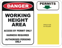 working height area sign