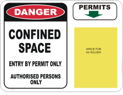 confined space permit sign