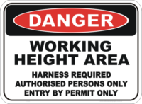 Working Height Sign