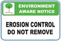 Erosion control Enviroment sign