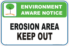 Erosion Area Enviroment sign