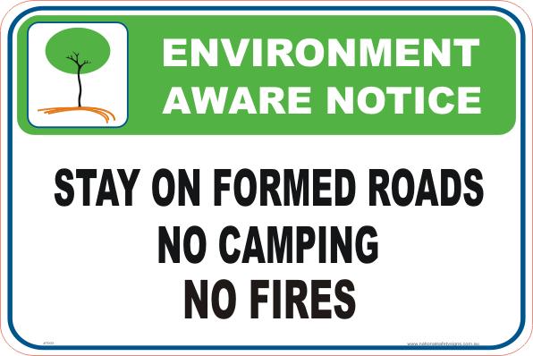 No Camping Enviroment sign