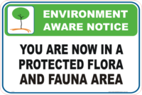 Protected Flora and Fauna Enviroment sign