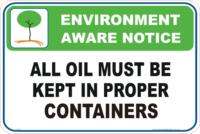 Oil spillage Enviroment sign