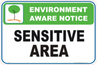 Sensitive Area Enviroment sign