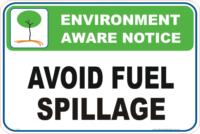 fuel spillage Enviroment sign