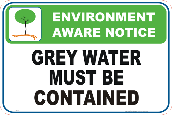 Grey Water Enviroment sign
