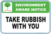 Take Rubbish with you environment sign