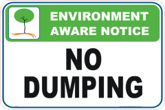 No Dumping Enviroment sign