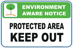 Protected Area Enviroment sign