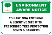 Sensitive Site Enviroment sign
