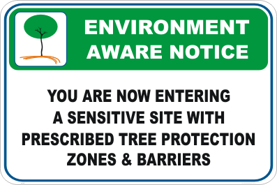 Sensitive Site Enviroment sign