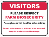 Farm Bio hazard Sign