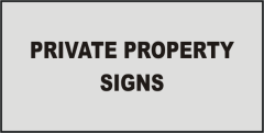 Information Private Property signs