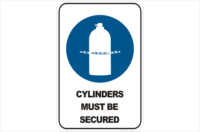 Cylinders Must be Secured