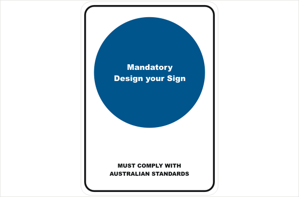 mandatory design a sign