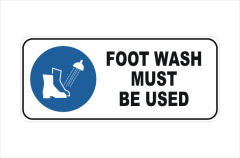 Foot Wash Must be Used