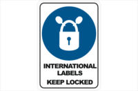 International Labels Keep Locked
