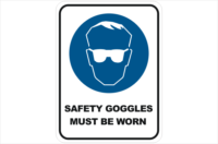 Safety Goggles must be worn