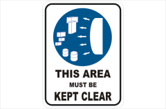 This area must be kept clear