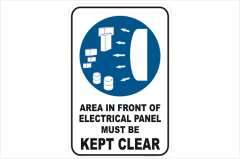 Electrical Panel kept clear