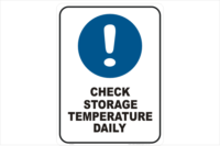 Check Storage Temperature daily