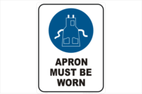 Apron Must be Worn
