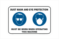 Eye Protection and Dust Mask