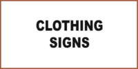 Mining Clothing Signs