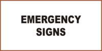 Mining Emergency Signs