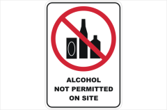 Alcohol not permitted on site