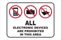 Electronic Devices Prohibited