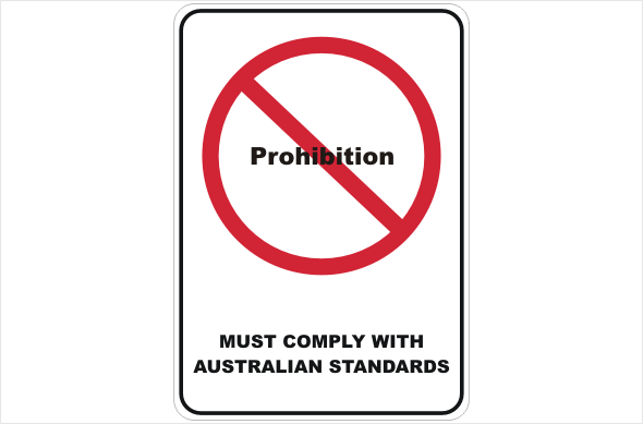 Design a Safety Sign for a Prohibited action