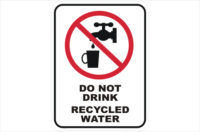 Do Not Drink Recycled Water