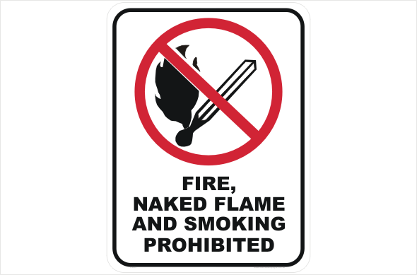Fire, Naked Flame, Smoking Prohibited