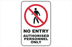 no entry, authorised personnel only