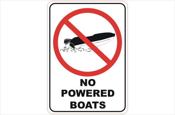 No Powered Boats