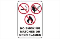 No Smoking matches Open Flames