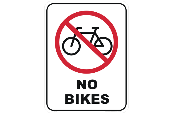 No Bikes P2229 National Safety Signs