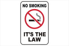 no smoking it's the law