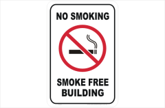 No Smoking Smoke Free Building