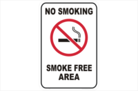 No Smoking Smoke Free Area