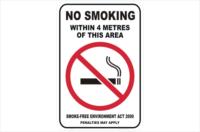 NSW no smoking within 4 metres of this area