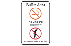 NT No smoking buffer area