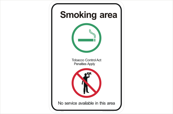 NT Smoking Area no service